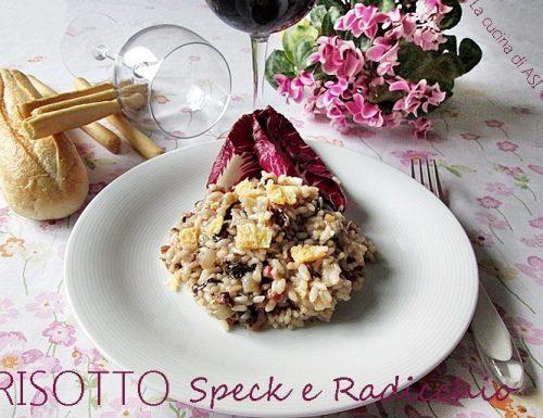 Risotto speck e radicchio-Ricetta primo piatto