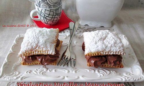 SFOGLIATINE CON NUTELLA E MASCARPONE Ricetta dolce veloce