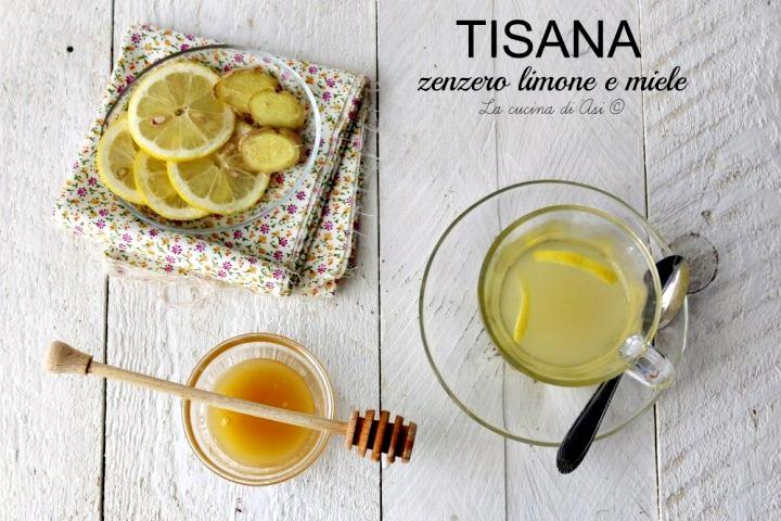 Tisana zenzero limone e miele