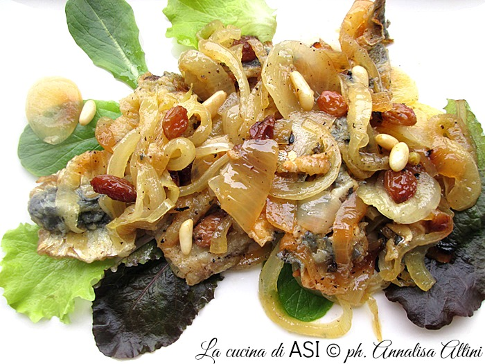LE SArde in saor de La cucina di ASI ©2015