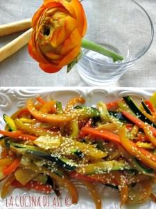 Le verdure al sesamo saltate La cucina di ASI annalisa a