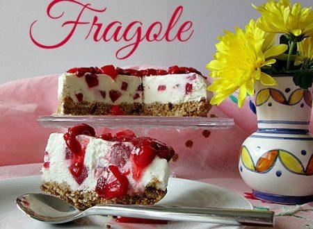 Cheesecake alle fragole – Ricetta dolce senza cottura