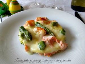 le lasagnette asparagi salmone e mazzancolle La cucina di ASI