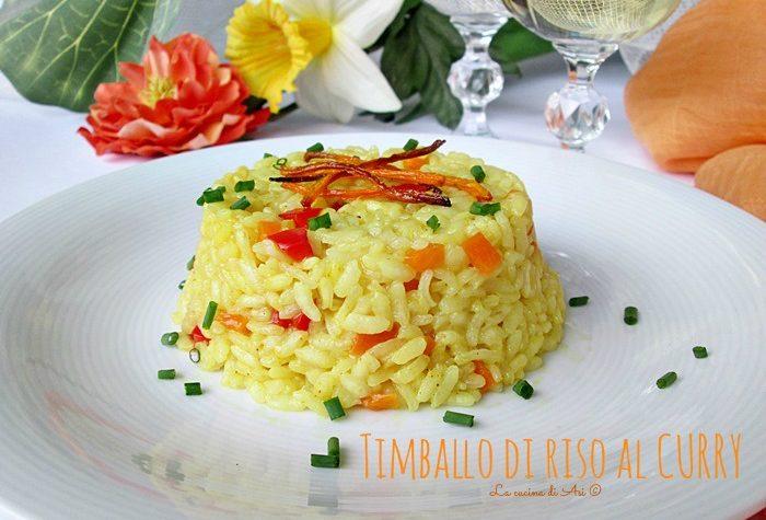 Timballi di riso al curry - Ricetta primo piatto