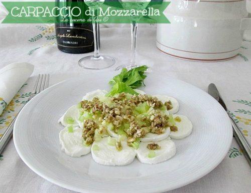 Carpaccio di mozzarella- Ricetta antipasto