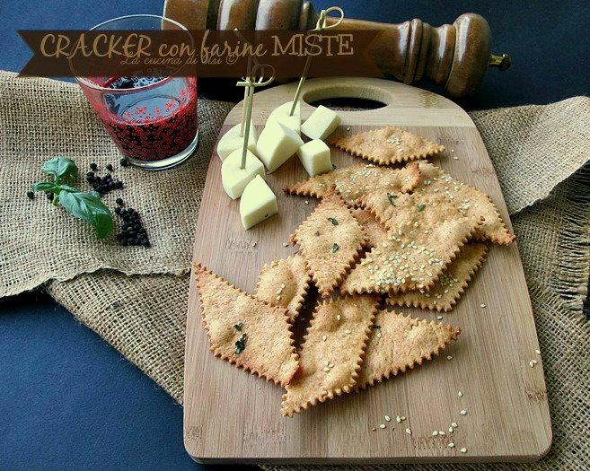 cracker con farine miste
