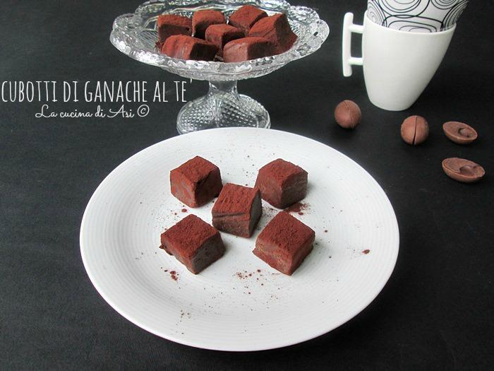 cubotti di ganache al tè © La cucina di ASI