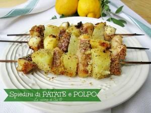 Spiedini di patate e polpo