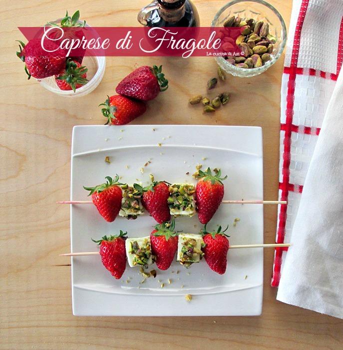 la caprese di fragole Annalisa Altini © La cucina di ASI
