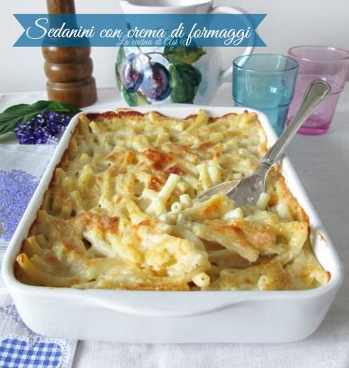 sedanini crema formaggio La cucina di ASI © 2015