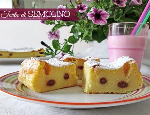 Torta di semolino-Ricetta dolce