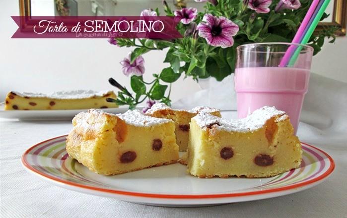 TORTA DI SEMOLINO Ricetta dolce