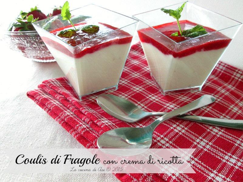 il coulis fragole e crema di ricotta La cucina di ASI 2015