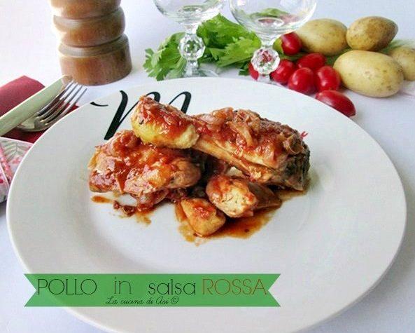 POLLO in SALSA ROSSA Ricetta secondo piatto di carne
