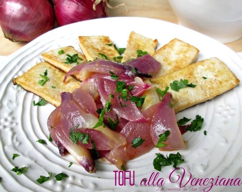 il tofu alla veneziana Cipolla rossa tofu succo di mele La cucina di ASI © 2015
