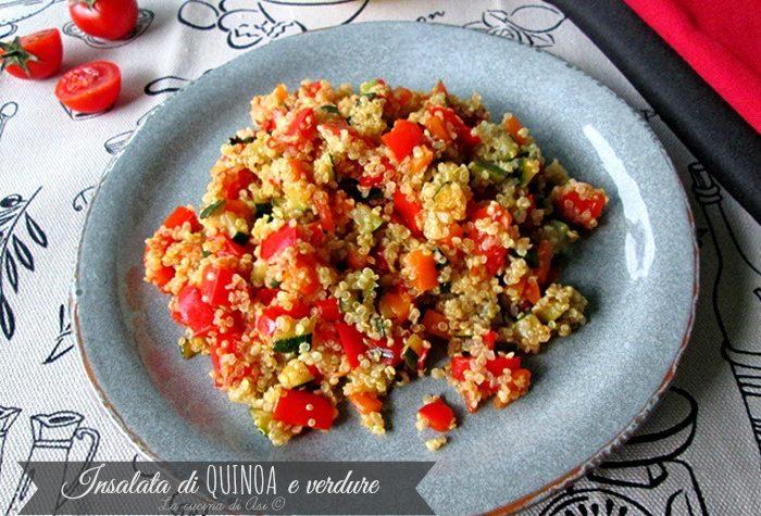 INSALATA DI QUINOA E VERDURE Ricetta gluten- free