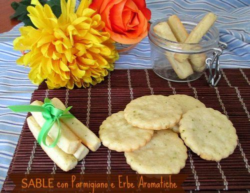 SABLE con PARMIGIANO e ERBE AROMATICHE Ricetta golosa