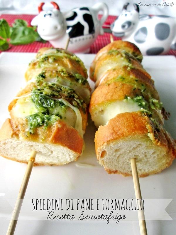 spiedini di formaggio e pane svuotafrigo La cucina di ASI 2015