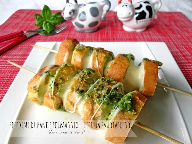 spiedini di pane e formaggio La cucina di ASI ©2015