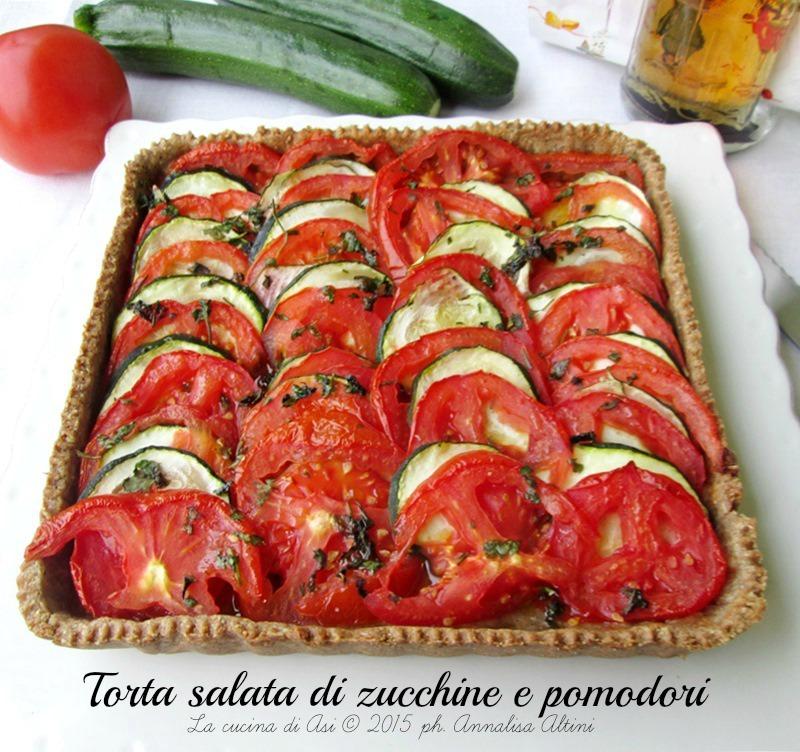 torta di zucchine e pomodori La cucina di ASI
