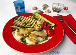 I CALAMARI E LE VERDURE ALLA PIASTRA La cucina di ASI BLOG ALTINI ANNALISA