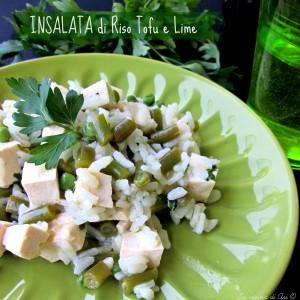 Insalata di riso con tofu e lime