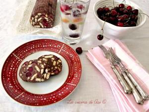 salame cioccolato ricotta ciliegie