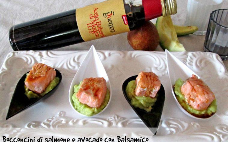 BOCCONCINI DI SALMONE E AVOCADO CON BALSAMICO Ricetta finger food
