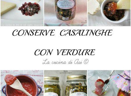 CONSERVE CASALINGHE CON VERDURA Raccolta ricette