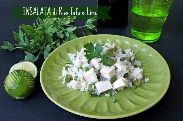 insalata tofu riso lime La cucina di Asi ©
