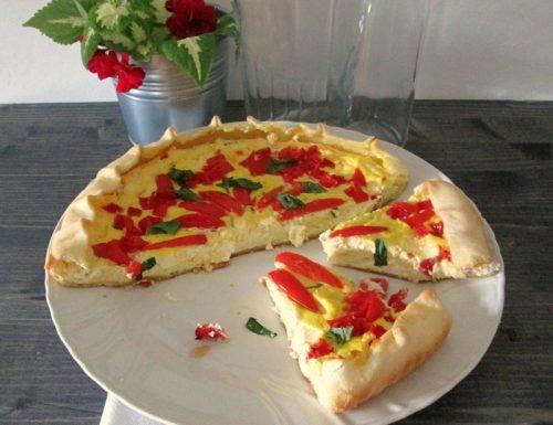 QUICHE CON CAPRINO, RICOTTA E POMODORINI Ricetta torta salata