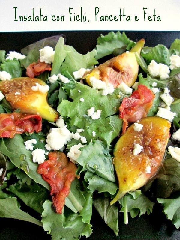 Insalata con fichi pancetta feta Blog La cucina di ASI ©