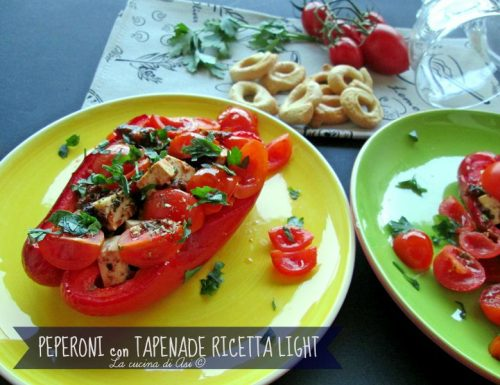 PEPERONI CON TAPENADE Ricetta light