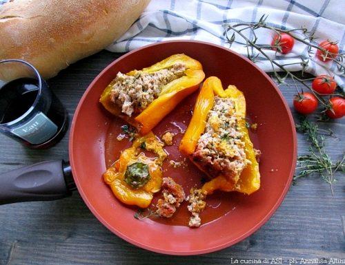 Peperoni ripieni-Ricetta piatto unico