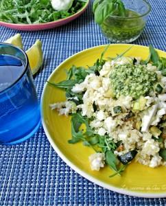 INSALATA rucola quinoa mozzarella pesto La cucina di ASI © BLOG