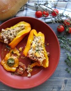 peperoni ripieni salsiccia La cucina di ASI