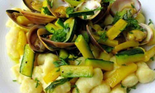 GNOCCHETTI CON VONGOLE E ZUCCHINE Ricetta primo piatto di pesce