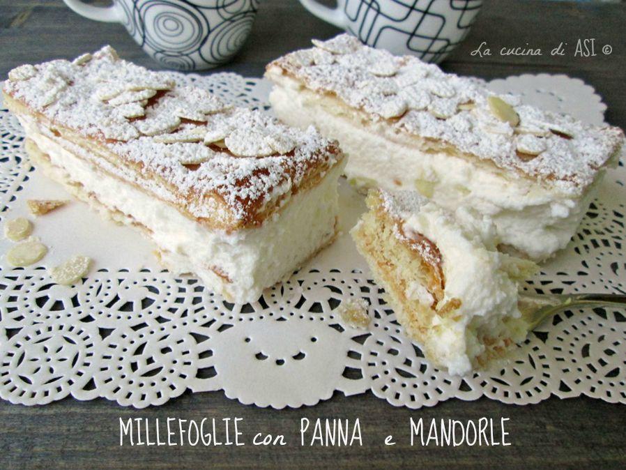 MILLEFOGLIE PANNA MANDORLE Blog La cucina di ASI ©
