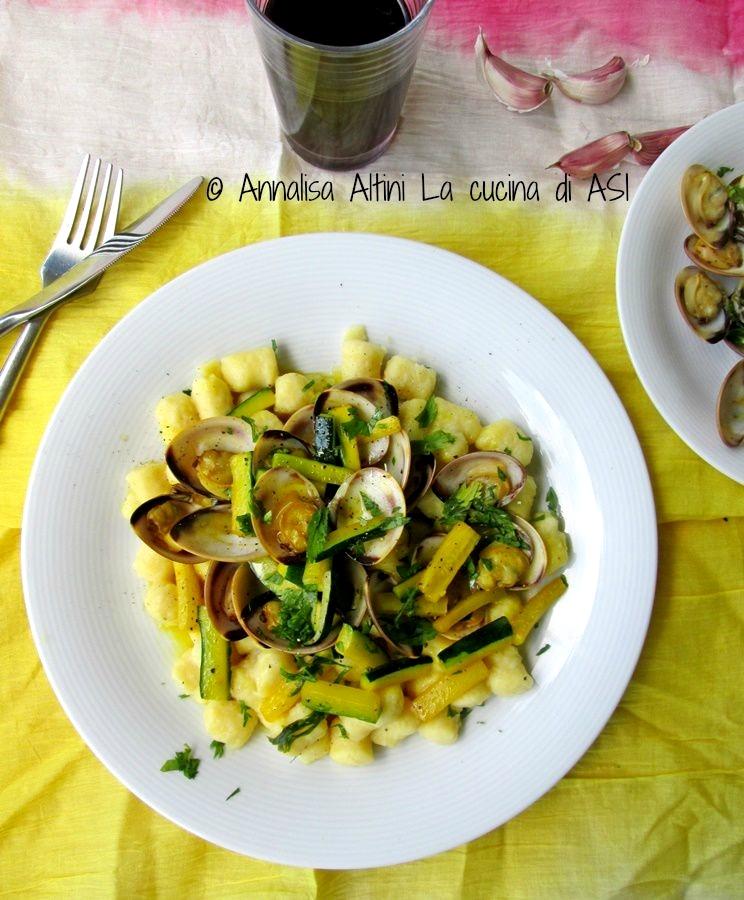 gli gnocchi vongole zucchine zafferano DEL BLOG lA CUCINA DI ASI ©