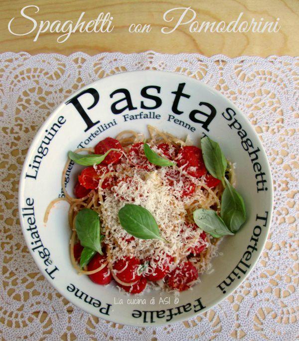 spaghetti ai pomodorini La cucina di ASI BLOG