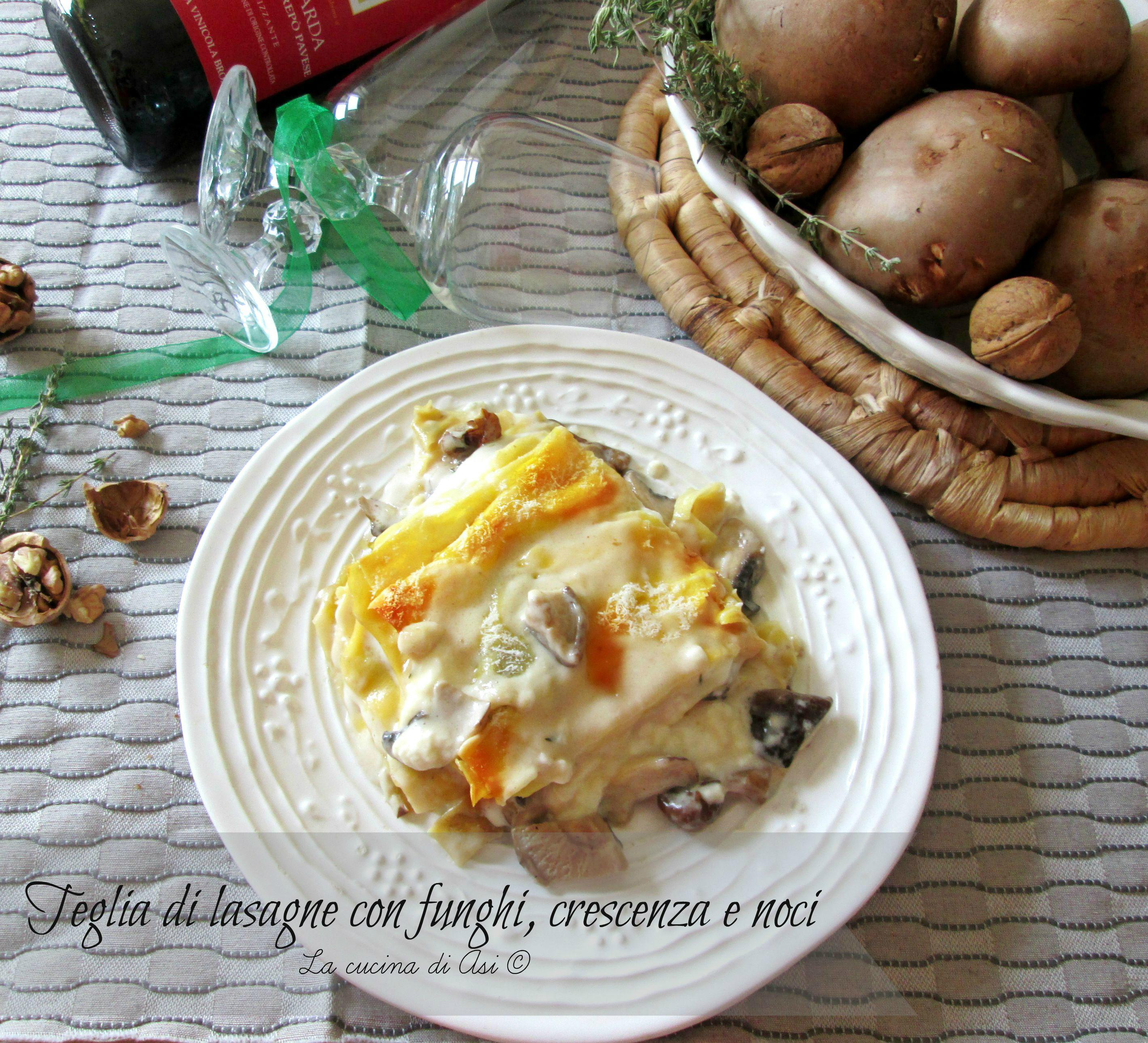 teglia di lasagne funghi crescenza La cucina di ASI ©