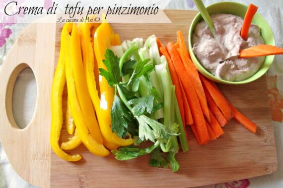 Crema di tofu per pinzimonio-Ricetta salata