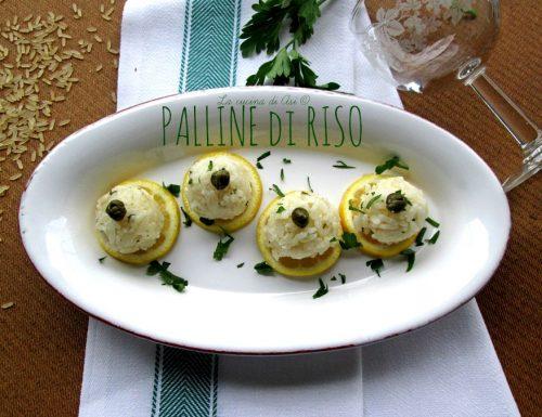 PALLINE DI RISO Ricetta antipasto