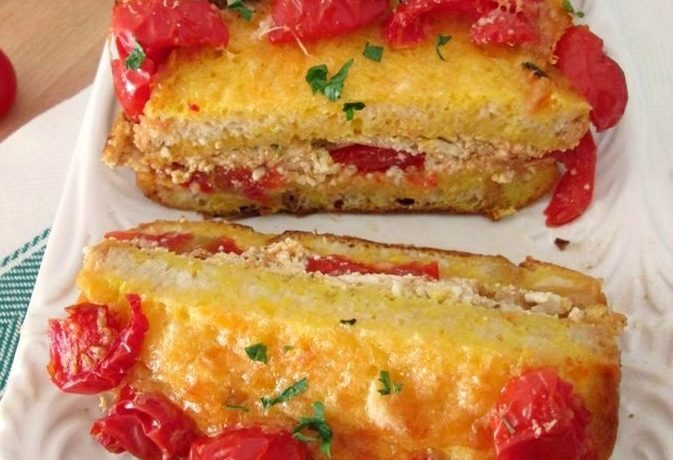 TORTA DI PANE CON PESTO ROSSO Ricetta salata