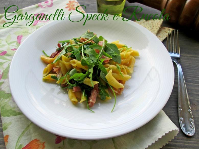 I garganelli speck rucola La cucina diASI blog
