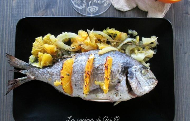 ORATA CON FINOCCHIO E ARANCIA Ricetta secondo piatto di pesce