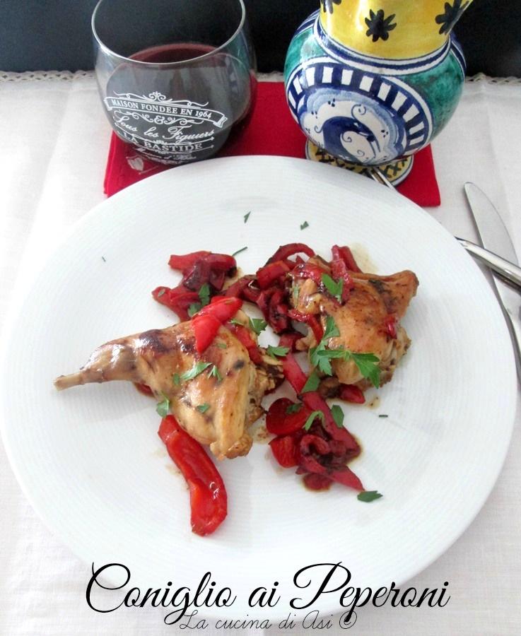 coniglio peperoni Blog La cucina di ASI ©