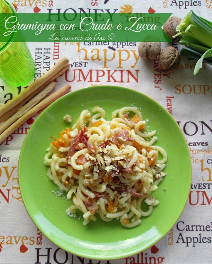 gramigna zucca prosciutto crudo La cucina di ASI ©