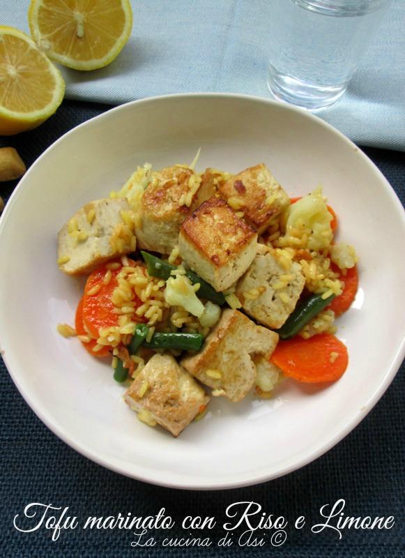 tofu riso limone La cucina di ASI