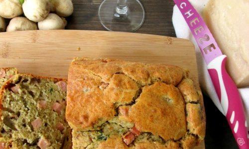 CAKE PROSCIUTTO E FUNGHI Ricetta torta salata